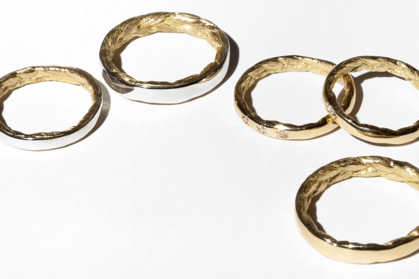 Braid Hair Marriage Ring
